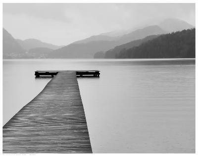 Solitude at the Pier--Art Print