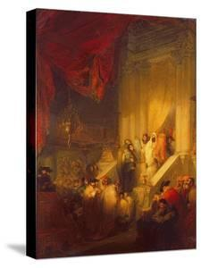 Reading of the Law in a Synagogue by Solomon Alexander Hart