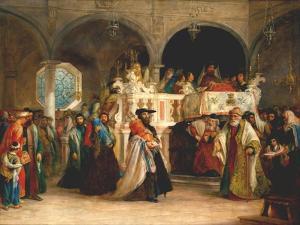 Simchat Torah, Livorno, 1850 by Solomon Alexander Hart