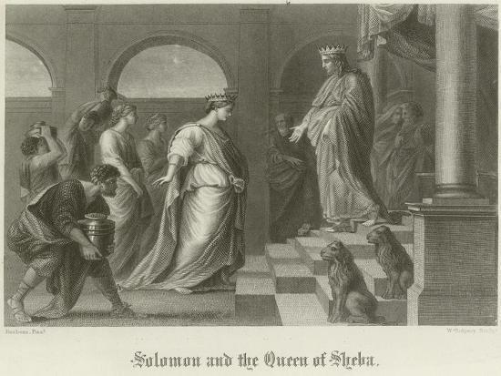 Solomon and the Queen of Sheba-Peter Paul Rubens-Giclee Print