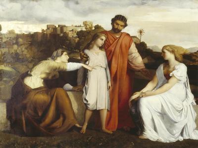 Solomon Being Given to Wisdom-Barthélémy Menn-Giclee Print