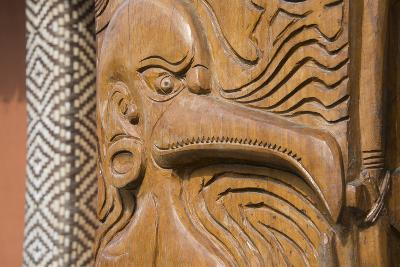 Solomon Islands, Guadalcanal Island. Cultural Center, Wood Carving-Cindy Miller Hopkins-Photographic Print