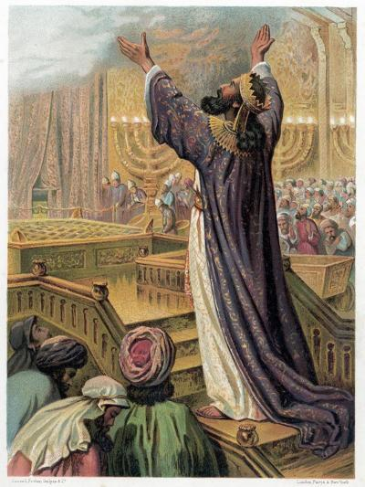 Solomon's Prayer at the Consecration of the Temple, C1870--Giclee Print