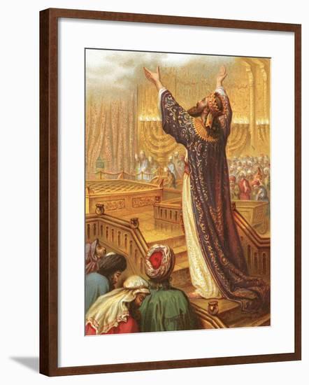Solomon's Prayer-English-Framed Giclee Print