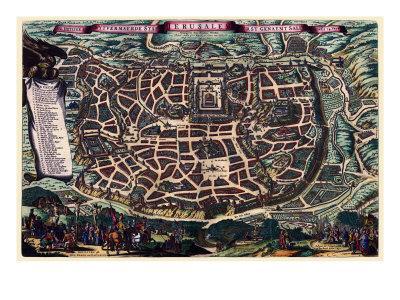 Solomon's Temple - Jerusalem-Braun Hogenberg-Art Print