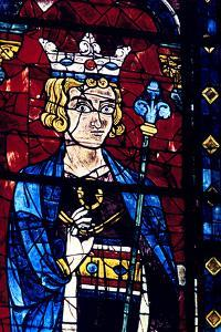 Solomon, Stained Glass, Chartres Cathedral, France, 1194-1260