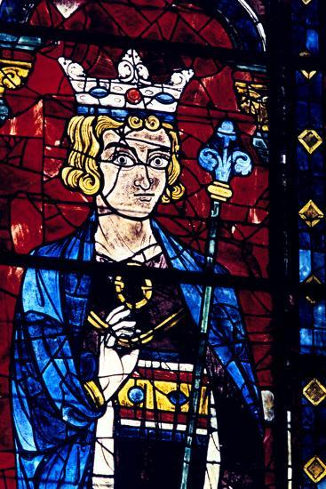 Solomon, Stained Glass, Chartres Cathedral, France, 1194-1260--Photographic Print