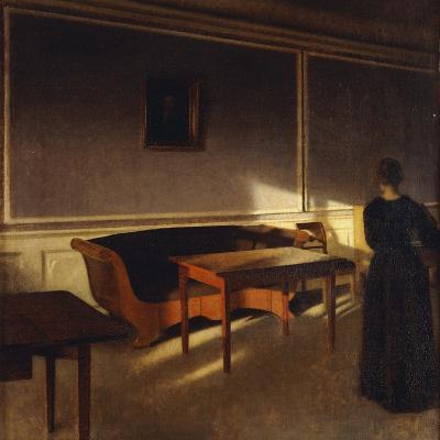 Solskin I Dagligstuen, No.1, 1903-Vilhelm Hammershoi-Giclee Print