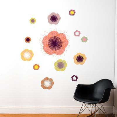Solstice Flowers Wall Decal--Wall Decal