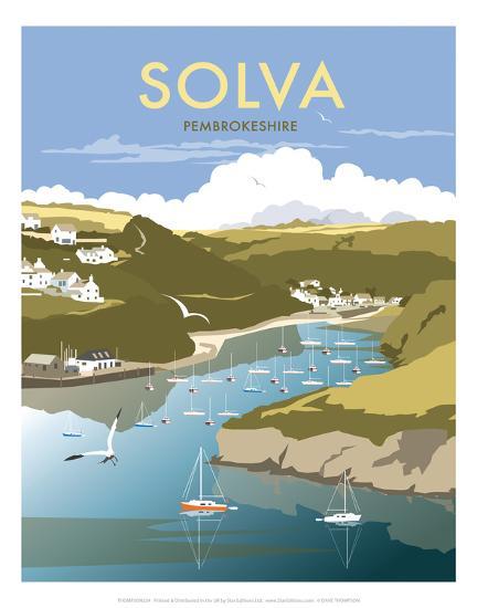 Solva - Dave Thompson Contemporary Travel Print-Dave Thompson-Art Print