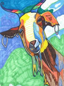 Goat With Earings Dirks by Solveig Studio
