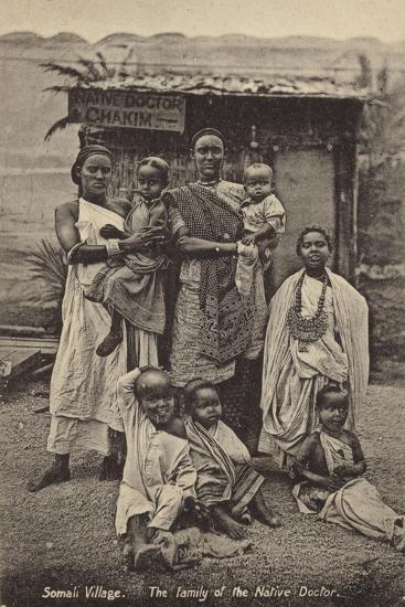 Somali Village - the Family of the Native Doctor--Photographic Print