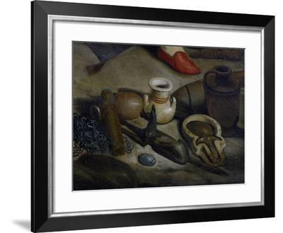 Some Artifacts Found During Excavation, Detail from Franco-Tuscan Expedition to Egypt 1828-1829--Framed Giclee Print
