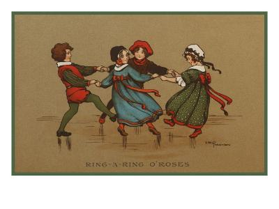Some Children in Varied Costumes Play Ring-A-Ring O'Roses--Giclee Print