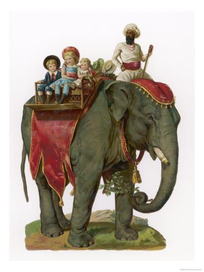 Some Children Take a Ride on an Elephant--Giclee Print