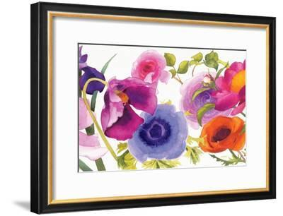 Global Gallery Shirley Novak Independent Blooms Blue X Giclee Stretched Canvas Artwork 30 x 30