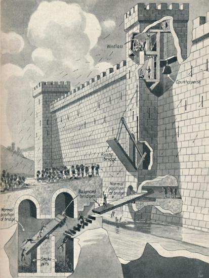 'Some Marvellous Methods by which the Medieval Castles Were Defended', c1934-Unknown-Giclee Print