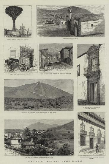Some Notes from the Canary Islands--Giclee Print