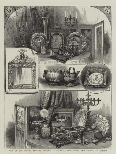 Some of the Wedding Presents, Sketched at Windsor Castle before their Removal to Osborne--Giclee Print