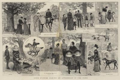 Some Studies During an Afternoon in the Park-Adrien Emmanuel Marie-Giclee Print