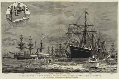 Some Vessels of the Evolutionary Fleet, under Admiral Sir G Hornby-William Lionel Wyllie-Giclee Print