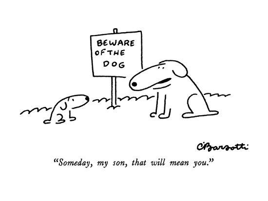 """""""Someday, my son, that will mean you."""" - New Yorker Cartoon-Charles Barsotti-Premium Giclee Print"""