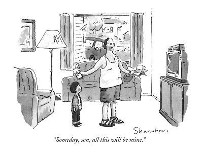 """Someday, son, all this will be mine."" - New Yorker Cartoon-Danny Shanahan-Premium Giclee Print"