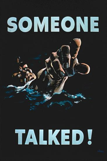 Someone Talked', 2nd World War Poster--Giclee Print