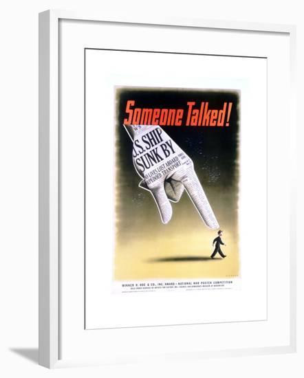 Someone Talked! Poster-Henry Koerner-Framed Giclee Print