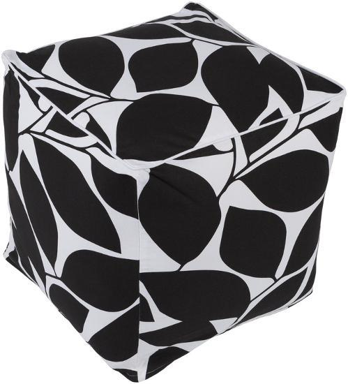 Somerset Pouf - Black--Home Accessories