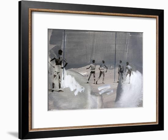 Something In The Way-János Huszti-Framed Art Print