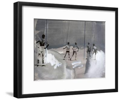 Something In The Way-János Huszti-Framed Art Print