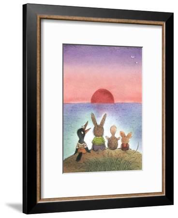 Something Red - Turtle-Valeri Gorbachev-Framed Giclee Print