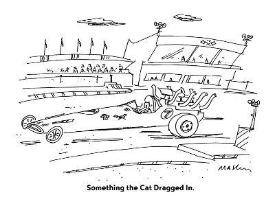 Something the Cat Dragged In. - Cartoon-Michael Maslin-Premium Giclee Print