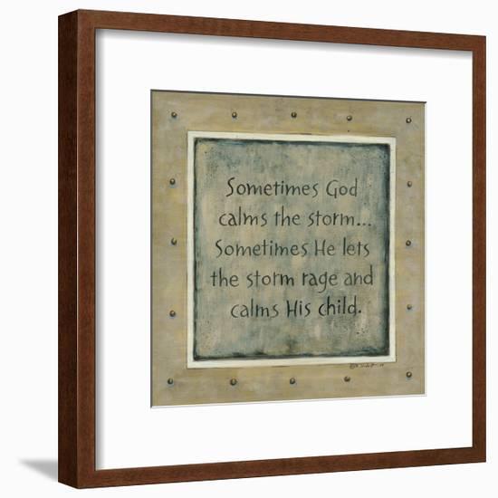 Sometimes God Calms the Storm-Karen Tribett-Framed Premium Giclee Print