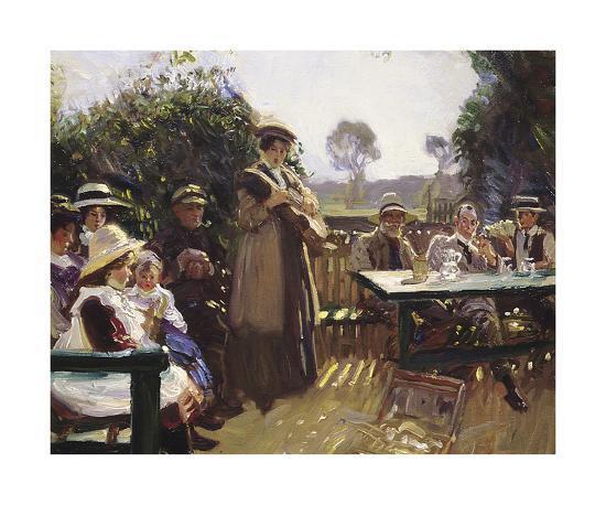 Somewhere In The Sun-Sir Alfred Munnings-Premium Giclee Print