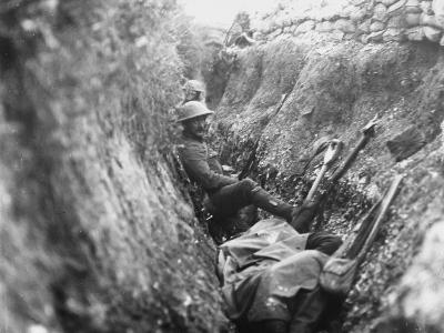 Somme Trench 1916-Robert Hunt-Photographic Print