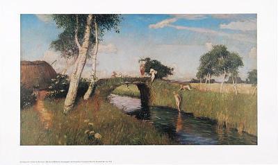Sommer am Moorkanal-Otto Modersohn-Art Print