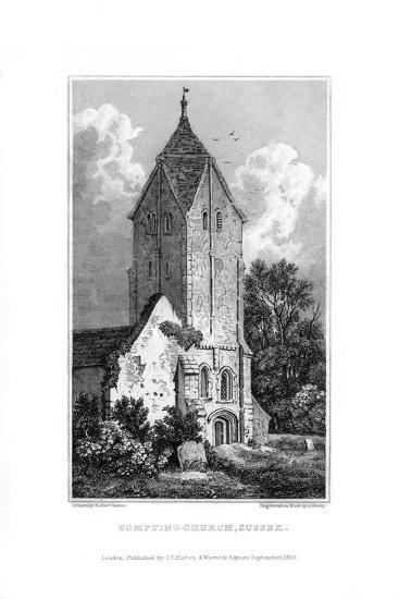 Sompting Church, Sussex, 1829-J Shury-Giclee Print
