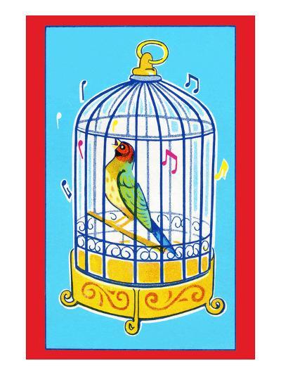 Song Bird in Cage--Art Print