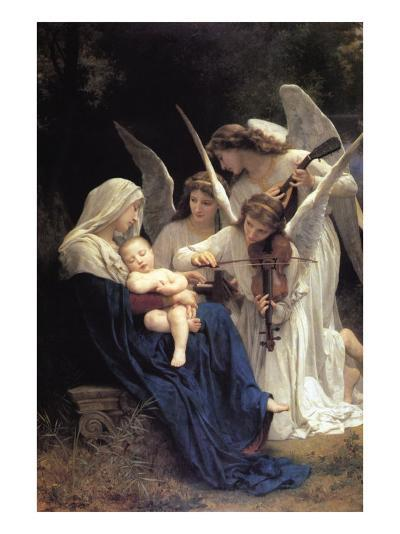 Song of The Angels-William Adolphe Bouguereau-Art Print