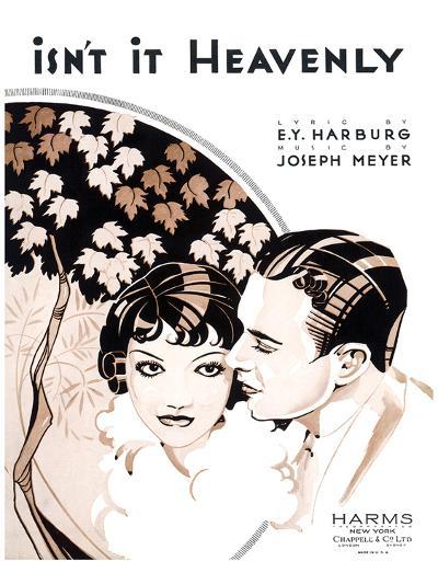 Song Sheet Cover: Isn't It Heavenly--Art Print