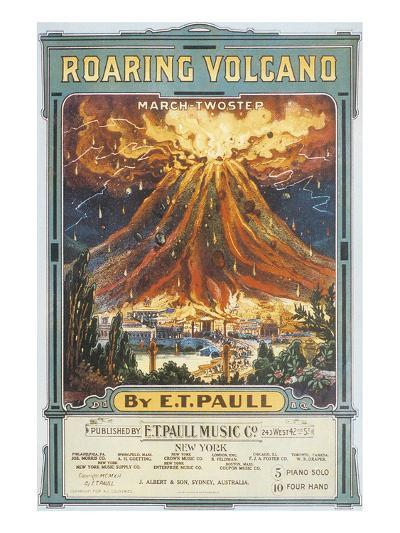 Song Sheet Cover: Roaring Volcano March Two Step--Art Print