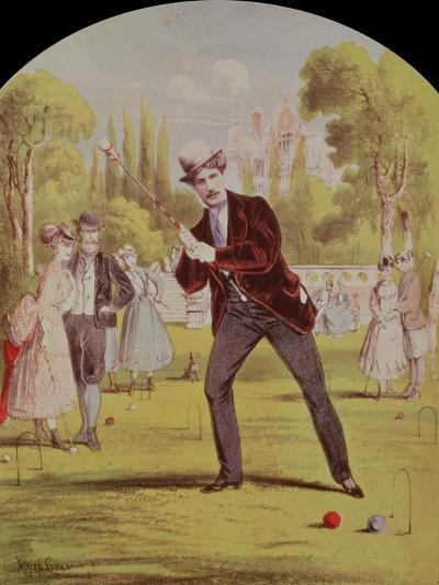 Song Sheet Cover with Print of Croquet, Edwardian--Giclee Print