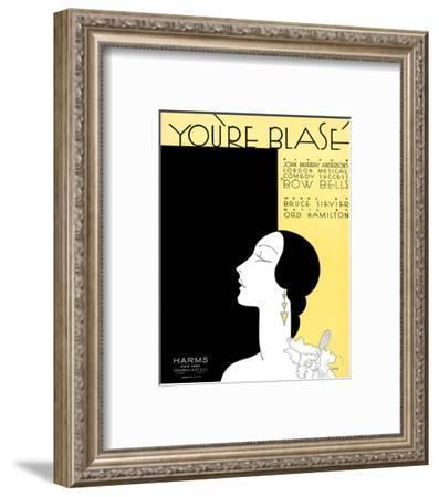 Song Sheet Cover: You're Blasé- Iors-Framed Art Print