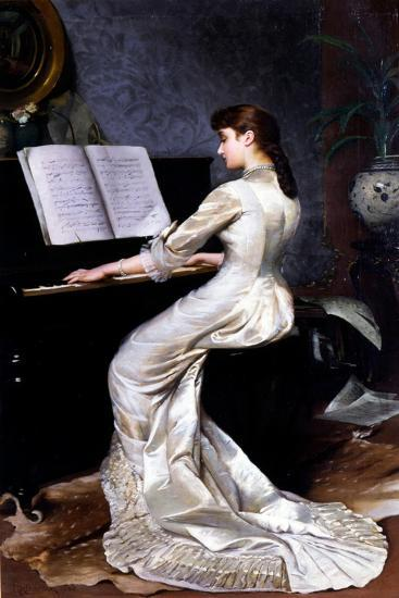 Song Without Words, Piano Player, 1880-George Hamilton Barrable-Giclee Print