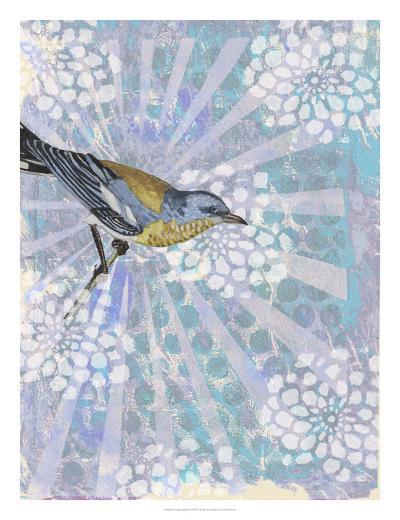 Songbird Batik I-Naomi McCavitt-Art Print