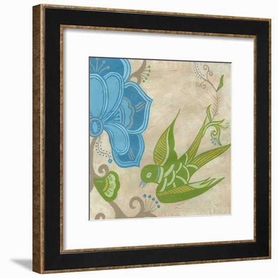 Songbird Fresco II-Erica J. Vess-Framed Art Print