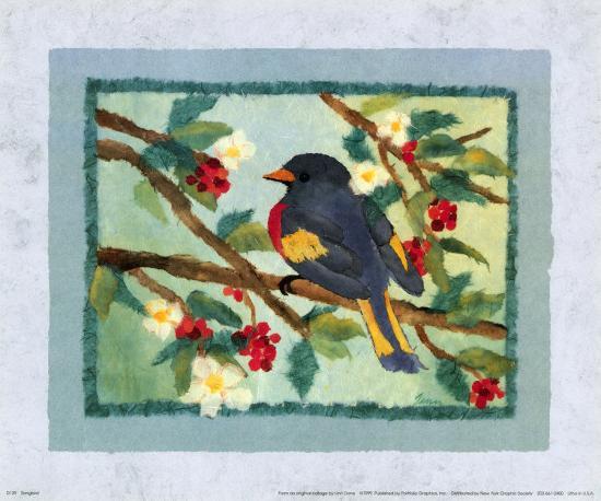 Songbird-Linn Done-Art Print