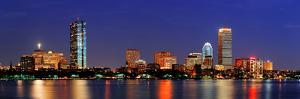 Boston City Skyline with Prudential Tower and Hancock Building and Urban Skyscrapers over Charles R by Songquan Deng